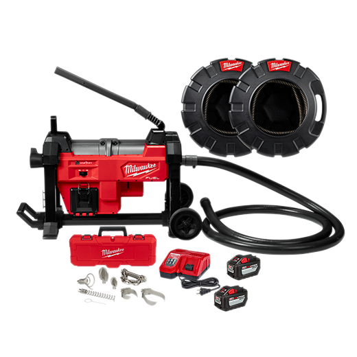 "M18 FUEL™ Sewer Sectional Machine w/ CABLE DRIVE™ with 1-1/4"" Cable"