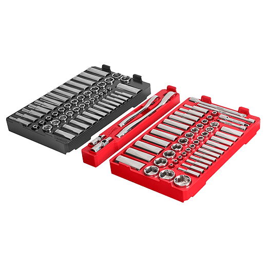 "1/4"" & 3/8"" Drive 106pc Ratchet & Socket Set with PACKOUT Low-Profile Organizer - SAE & Metric"